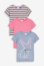 Bunny 3 Pack Short Sleeve T-Shirts (3mths-7yrs)