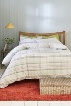 2 Pack Bracken Check Duvet Cover and Pillowcase Set