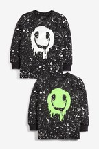 Long Sleeve Sequin Face Top (3-16yrs)
