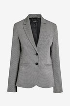 Monochrome Check Single Breasted Jacket