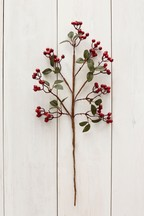 Artificial Red Berry Stem