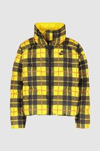 Nike Yellow Plaid Synthetic Filled Jacket