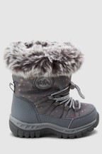 Star Print Snowboots (Younger)