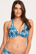 Figleaves Blue Palermo Underwired Non Pad Halter Top