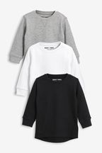 3 Pack Textured Long Sleeve T-Shirts (3mths-7yrs)