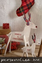 Personalised Large Reindeer Decoration