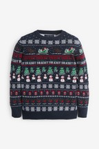 Kids Matching Family Pattern Wrapping Crew Neck Jumper (3mths-16yrs)