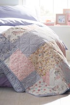 Pretty Patchwork Quilted Throw