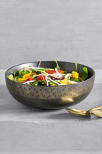 Metallic Print Serve Bowl