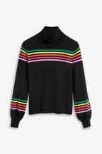 Mix/Madeleine Thompson Rainbow Bell Sleeve Jumper
