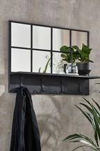 Metal And Mirror Shelf