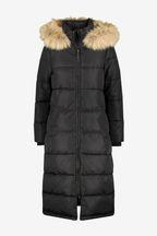 Superdry Black Long Everest Coat