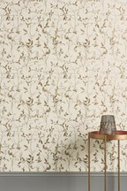 Paste The Wall Earthed Leaf Wallpaper