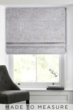 Chunky Weave Grey Made To Measure Roman Blind