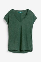 Metallic V-Neck Top