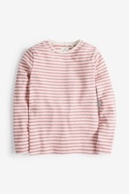 Long Sleeve Pointelle Top (3-16yrs)