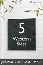 Personalised Everest Slate House Sign by Loveabode