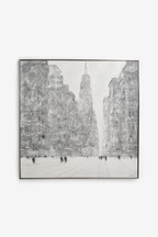 Artist Collection Snow City Canvas by Jon Barker