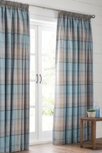 Marlow Woven Check Curtains