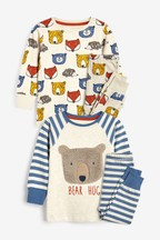 2 Pack Oatmeal Bear Snuggle Pyjamas (9mths-8yrs)