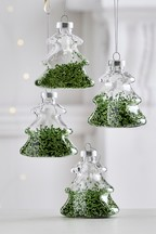 Set of 4 Shaker Tree Baubles