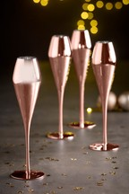 Set of 4 Rosa Metallic Flute Glasses