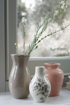 Set of 3 Floral Vases