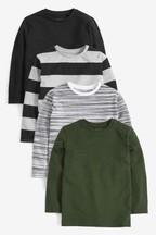 4 Pack Long Sleeve T-Shirts (3-16yrs)