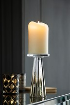 Faceted Glass Candlesticks