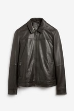 Signature Leather Harrington Jacket