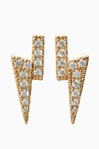 Diamanté Bolt Stud Earrings