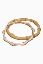 Bamboo Effect Bracelet Two Pack