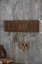 Wood And Metal Welcome Hooks