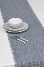 Grey Geo Fabric Table Runner