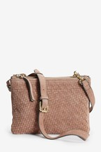 Leather Double Compartment Across-Body Bag