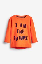 Long Sleeve Slogan T-Shirt (3mths-7yrs)