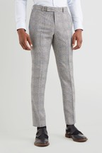 Moss London Skinny Fit Black/White Sky Check Trouser