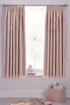 Rose Ruffle Panel Pencil Pleat Curtains