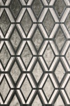Geo Cut Velvet Collection Luxe Eyelet Curtains Fabric Sample