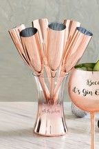 Personalised Rose Gold Champagne Flutes
