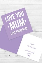 Personalised Love You Mum Card