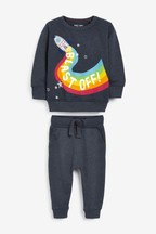 Rainbow Rocket Crew And Joggers Set (3mths-7yrs)