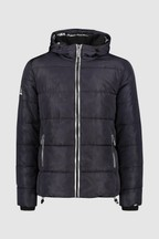 Superdry Navy Camo Padded Coat