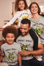 Kids Matching Family Christmas Brussell Sprouts T-Shirt (3-16yrs)