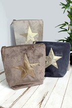 Personalised Velvet Cosmetic Bag by Solesmith