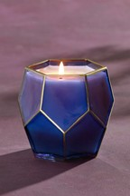 Blue Sapphire Faceted Candle