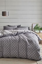 Micro Geo Duvet Cover And Pillowcase Set