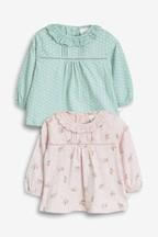 Frill Collar T-Shirts Two Pack (0mths-2yrs)