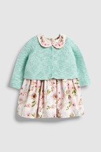 Floral Dress And Cardigan Set (0mths-2yrs)