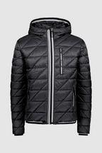 Superdry Black Quilted Fuji Coat